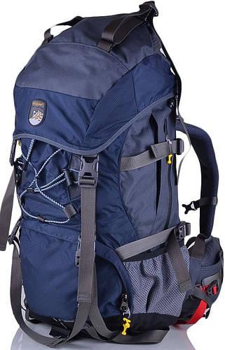Рюкзак туриста, походный рюкзак 60 л. Onepolar W1365-navy