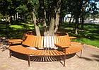 Лавка садово-парковая со спинкой круглая №7, фото 2
