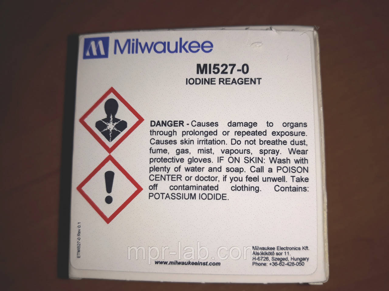 Порошковый реагент Milwaukee MI528-25 для определения Железа,25 тестов