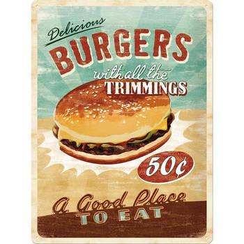 Табличка Nostalgic-Art Burgers (23119)