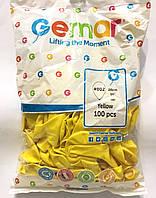Шары надувные жёлтый пастель Gemar Ballons