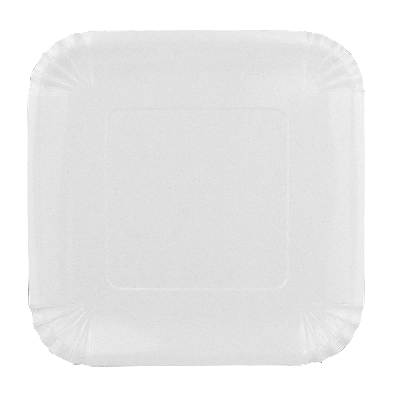 Тарелка картонная Белая ХТ21*21см 100шт/уп