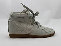 Сникерсы женские Isabel Marant на шнурках песочные замшевые 38 (24см)