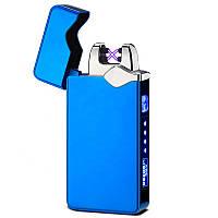 Запальничка SUNROZ DK-JL315 портативна електронна акумуляторна USB запальничка Синій (SUN5543)