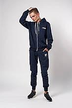 Мужской спортивный костюм. Код модели 12 02/76-19. Цвет темно синий.