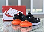 Мужские кроссовки Nike Air Max 270 (черно-оранжевые), фото 3
