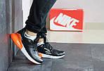Мужские кроссовки Nike Air Max 270 (черно-оранжевые), фото 5