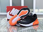 Мужские кроссовки Nike Air Max 270 (черно-оранжевые), фото 6