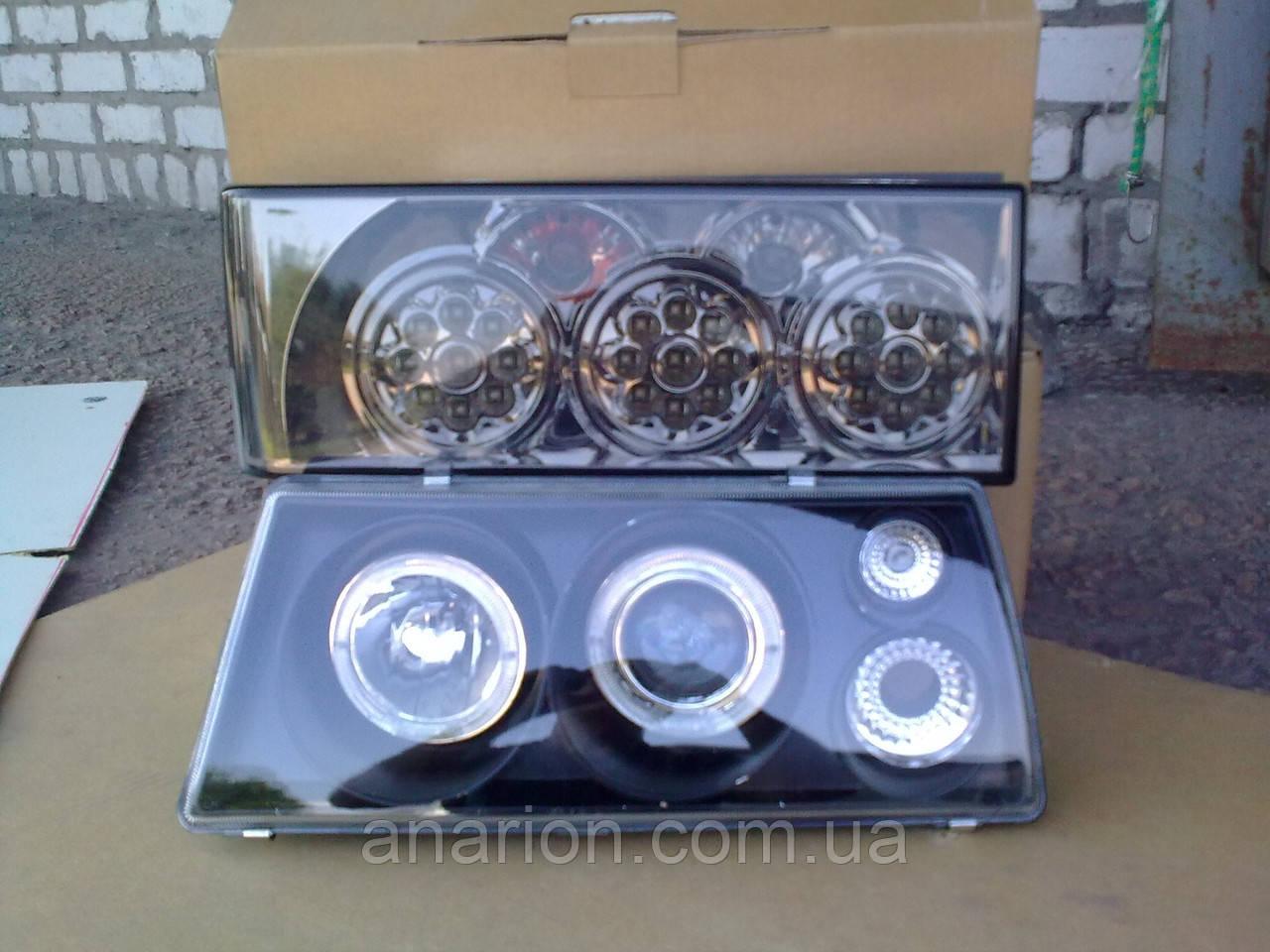 Передние черные+задние диодные фары Терминатор на ВАЗ 2109 №22