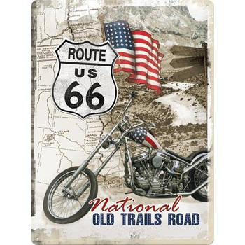 Табличка Nostalgic-Art Route 66 Old Trails Road (23136)