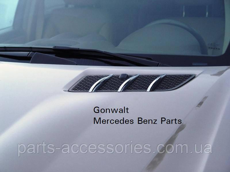 Mercedes ML W164 W 164 хромовые накладки хром на капот новый оригинал 2006-12