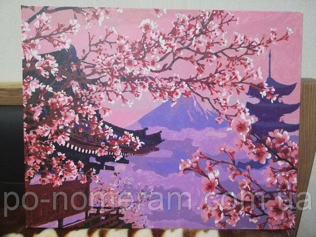 Картина по номерам Японский пейзаж отзывы и фото готовой работы