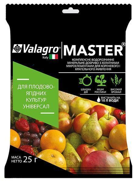 Мастер комплексное универсальное удобрение для плодово-ягодных культур, 25 г