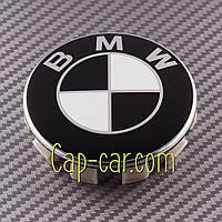 36131180419 Колпачек для оригинального диска BMW черно белый, фото 1
