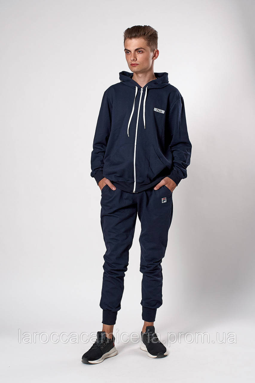 Мужской спортивный костюм. Код модели 12 03/76-19. Цвет темно синий.