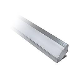 Комплект Профиль алюминиевый неанодированный ЛПУ17 угловой + мат.рассеиватель 2м