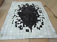 Ковры из шкур с белыми краями и черной серединой в наличии