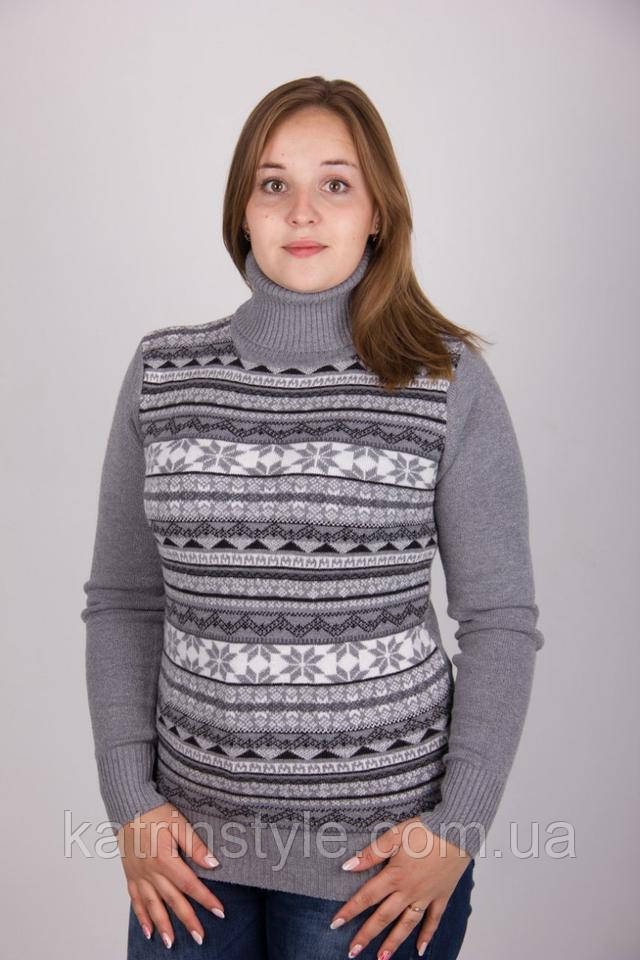 фотография женский свитер серого цвета