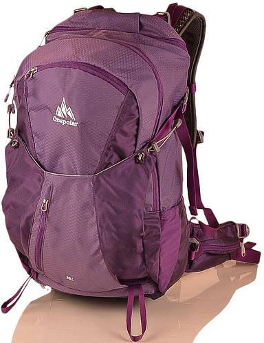Рюкзак туристический женский 38 л. ONEPOLAR (ВАНПОЛАР) W1983-violet фиолетовый