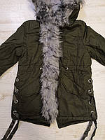 Куртки на меху для девочек оптом, Glo-Story, 110-160 рр., арт. GSX-6782, фото 4