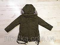 Куртки на меху для девочек оптом, Glo-Story, 110-160 рр., арт. GSX-6782, фото 6