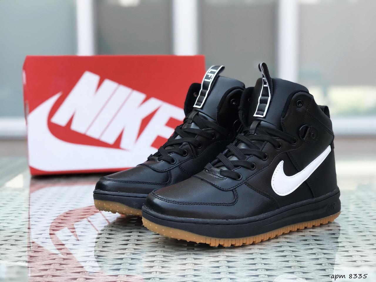 Мужские кроссовки Nike Lunar Force 1 (черно-белые)