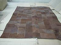 Однотонный коричневый ковер из шкур patchwork