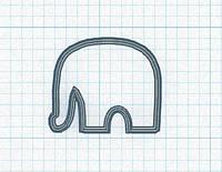 Вырубка кондитерская для пряника слоник  8*8 см размер можно любой