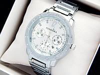 Жіночі кварцові наручні годинники Пандора (Pandora) срібло, з срібним циферблатом - код 1540, фото 1