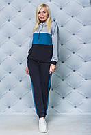 Жіночий спортивний костюм з вставками, 3 кольори .Р-ри 42-58, фото 1