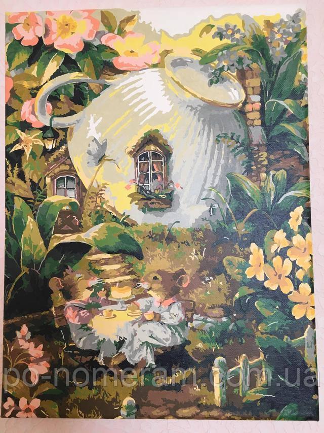 Раскраска по номерам Мышиный домик