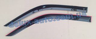 Ветровики Cobra Tuning цельные на авто Infiniti G37 Coupe CV36 2007-2010 Дефлекторы окон Кобра Инфинити Г37