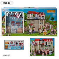 Игрушечный домик для кукол Happy Family с флоксовыми животными 012-10 (аналог Sylvanian Families)