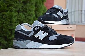 Мужские кроссовки New Balance 999, черно-серые, замшевые