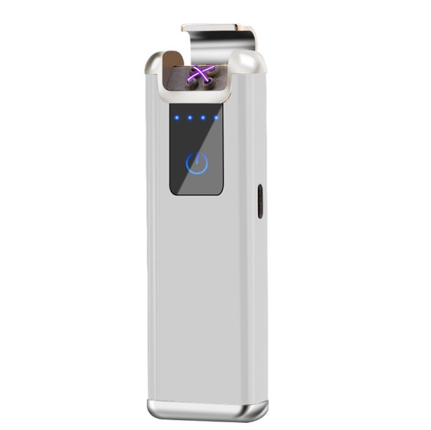 Запальничка SUNROZ MLT232 портативна електронна акумуляторна USB запальничка Срібний (SUN5550)