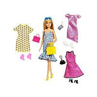 Кукла Барби с комплектами одежды, обувью и аксессуарами Barbie Doll & Party Fashions Set GDJ40