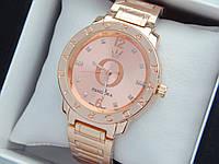 Женские кварцевые наручные часы  Пандора (Pandora) розовое золото, с золотым циферблатом - код 1545, фото 1