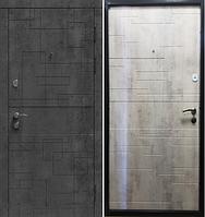 Входные Двери Лабиринт бетон темный / бетон серый 2060 х 870/970 мм.