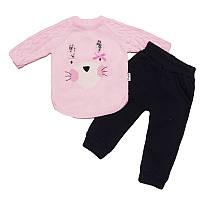 Костюм для девочки на байке 68-80  кофта+штаны арт.12430