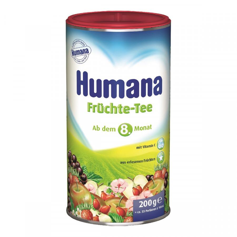 Чай растворимый Humana (Хумана) фруктовый  200гр с 8 мес