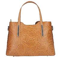 Женская  сумка Итальянская  с тиснением Bottega Carele BC149