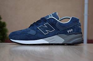 Мужские кроссовки New Balance 999, синие, замшевые