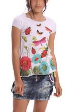 Дитяча футболка для дівчинки Desigual Іспанія 41T3223 Білий