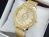 Женские кварцевые наручные часы  Пандора (Pandora) золото, с с метками стразами - код 1547, фото 1