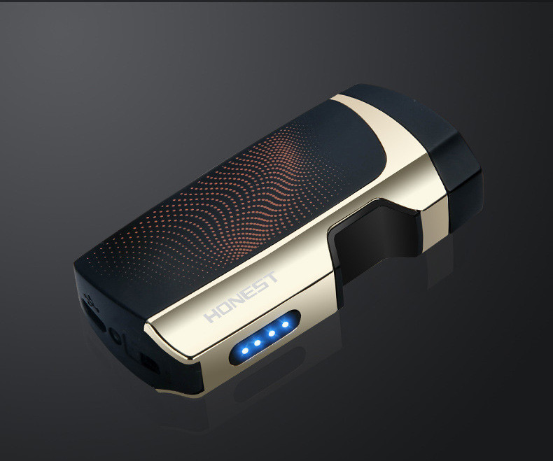 Запальничка HONEST YJ176 електронна акумуляторна USB запальничка Future Чорний (SUN5560)
