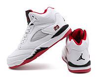 Подростковые детские кроссовки Nike Air jordan White Red, размеры 31-36