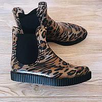 Женские резиновые сапоги леопардовой раскраски Sopra