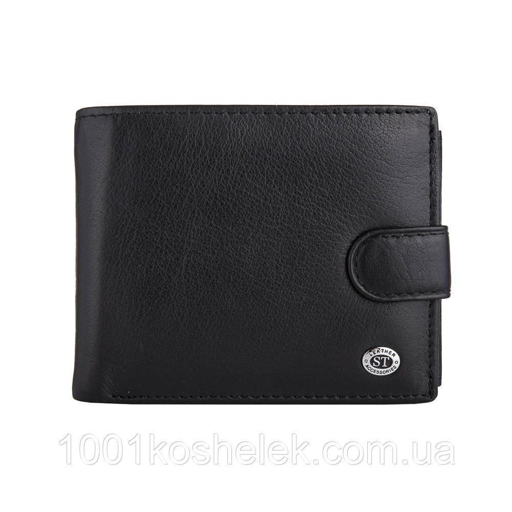 Мужской кожаный кошелек ST 141 Black
