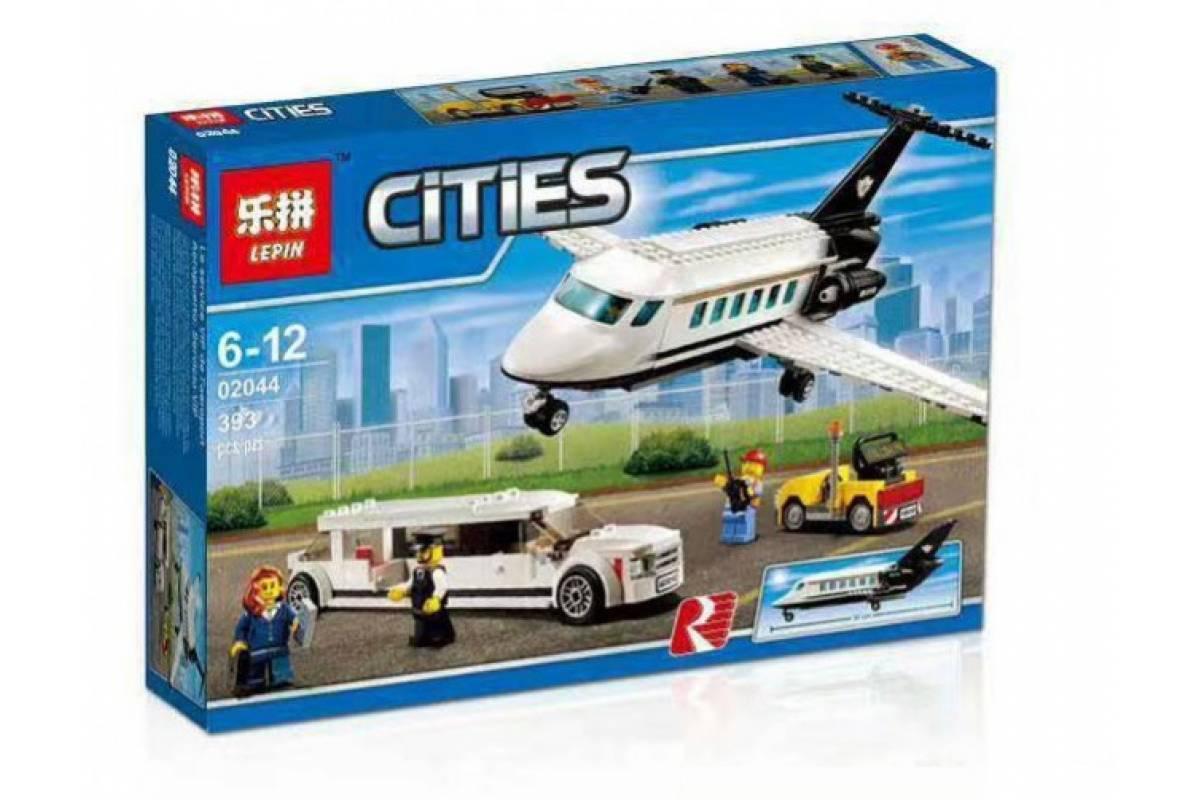 """Конструктор Lepin 02044 """"Служба аэропорта для VIP-клиентов"""" 393 деталей. Аналог LEGO City 60102"""