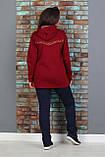 Теплый спортивный костюм женский Трехнитка на флисе Размер 48 50 52 54 56, фото 2